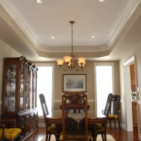 coffered ceiling in dining room