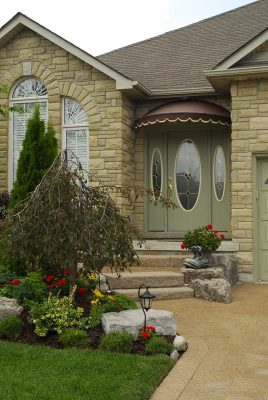 custom home entry