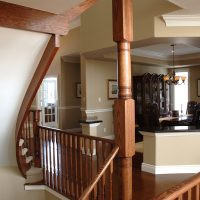 custom wood stair cases