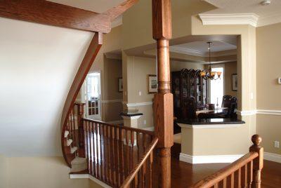 custom wood stair cases