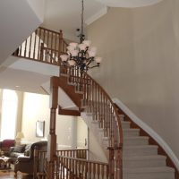 circular wood staircase
