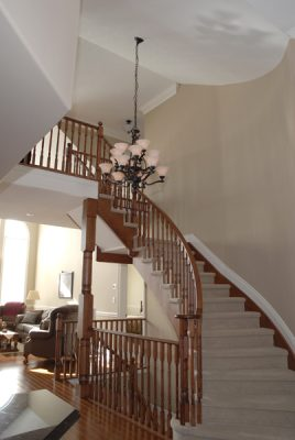 circular wood staircase