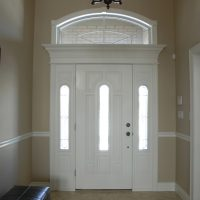 front entry with transom