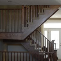 custom open wood staircase