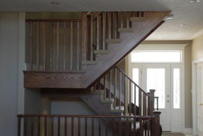 custom open wood staircase